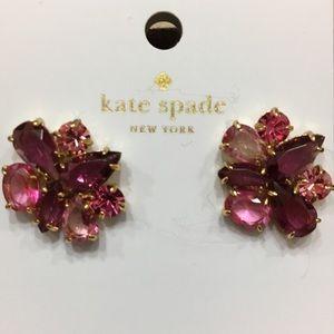 NWT Kate Spade Berry Crystal Cluster Earrings